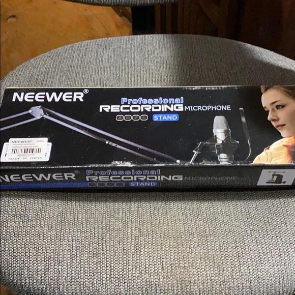 Microphone suspension scissor arm stand